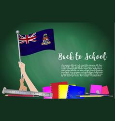 flag of cayman islands on black chalkboard vector image