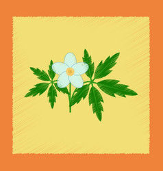 Flat shading style icon flower anemone vector