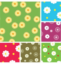flowering pattern vector image