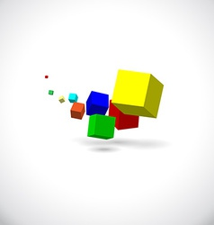 Flying cubes vector