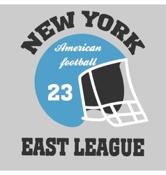 football t-shirt ny vector image