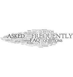 Frequently word cloud concept vector