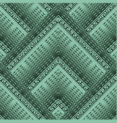 geometric greek 3d seamless pattern vector image
