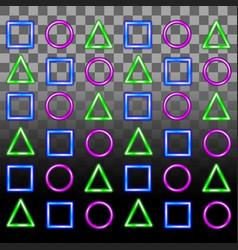 Glowing neon seamless pattern vector