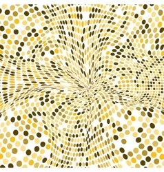 Gold background Round golden mosaic vector image