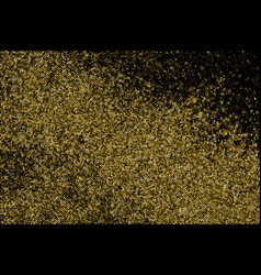 gold glitter halftone dotted backdrop vector image