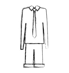 Grandfather dress outfit icon vector