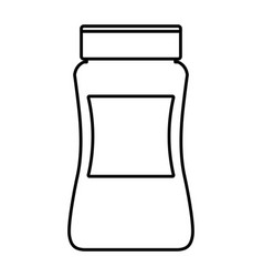Instant coffee bottle vector