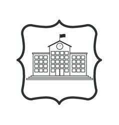 Isolated building of school design vector