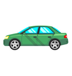 isolated sedan car flat design style vector image