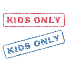 Kids only textile stamps vector
