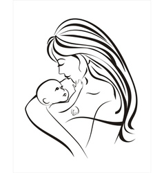 mama and baby vector image