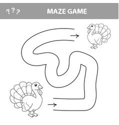 Maze game education game for children turkey vector
