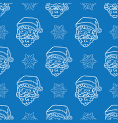 minimalistic christmas blue pattern vector image