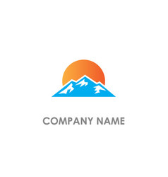 mountain landscape nature logo vector image