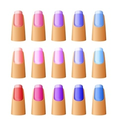 Nail polish in different hues vector