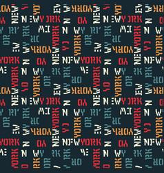 new york pattern seamless design vector image