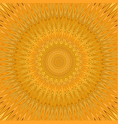Orange mandala star fractal ornament background - vector