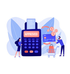Payment processing concept vector