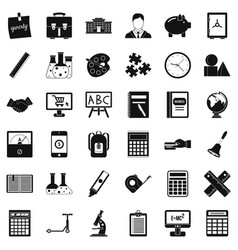 Phone icons set simple style vector