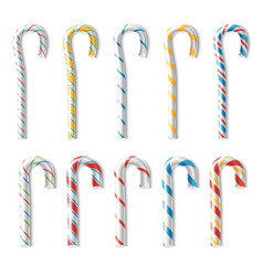 realistic candy cane classic stick vector image