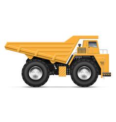Realistic dump truck vector