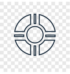 Rescue tube concept linear icon isolated on vector