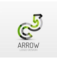 Rotation arrow company logo business concept vector