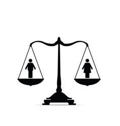Scales with equality icon vector
