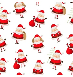 seamless pattern set of Santa Clauses vector image