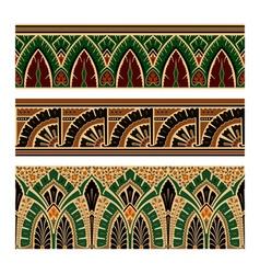 Set of Oriental Pattern Elements vector