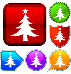 Set shiny icon series on buttons christmas vector