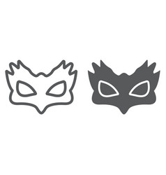 Sex mask line and glyph icon sex toy and adult vector