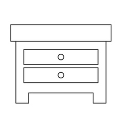 single nightstand icon vector image