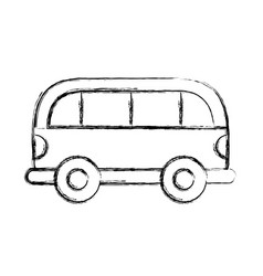 sketch draw car cartoon vector image