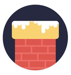 Snowy chimney vector