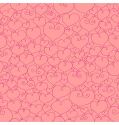 Stylized hearts seamless vector