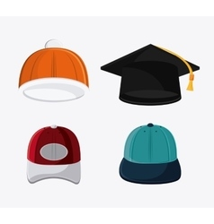 Types of hats cloth accesory vector