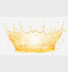 Water crown splash of water or oil transparency vector