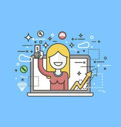 Woman money in hand design vector