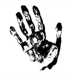 Black Hand Print vector image