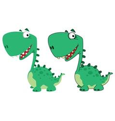 dino cartoon cute vector image
