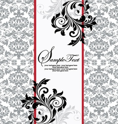 floral background and frame with sample tex vector image