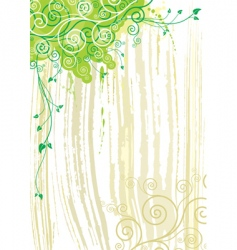 plant and texture background vector image vector image