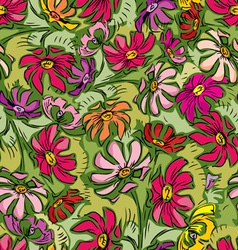 summer flowers seamless vector image vector image
