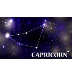 Symbol capricorn zodiac sign vector