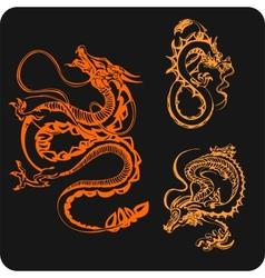Chinese Dragons - set vector image