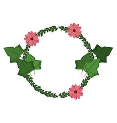 Flowers wreath symbol vector