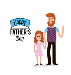 happy father with his daughter congratulating him vector image