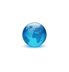 Realistic glass globe logo creative idea eco vector image